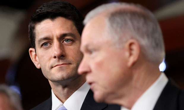 Rep. Paul Ryan and Sen. Jeff Sessions discuss the Ryan budget proposal